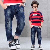 2016 Autumn New Fashion Cotton Boys Jeans Children S Jeans Blue Long Denim Jeans Children Trousers