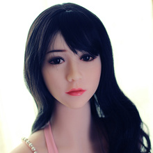 Top quality asian sex doll head for full silicone doll, real sex toy doll, oral sex products for men