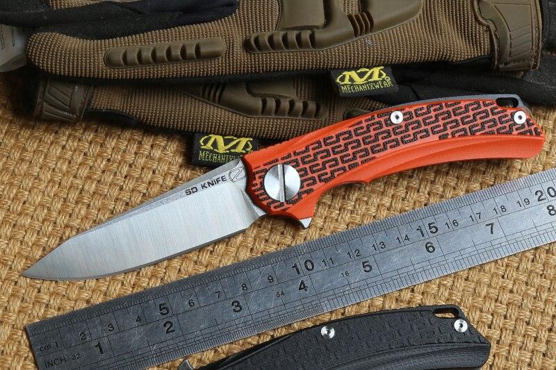 STEDEMON BG01 Flipper folding knife 12C27 blade KVT ball bearing G10 handle camping hunting outdoor Survival