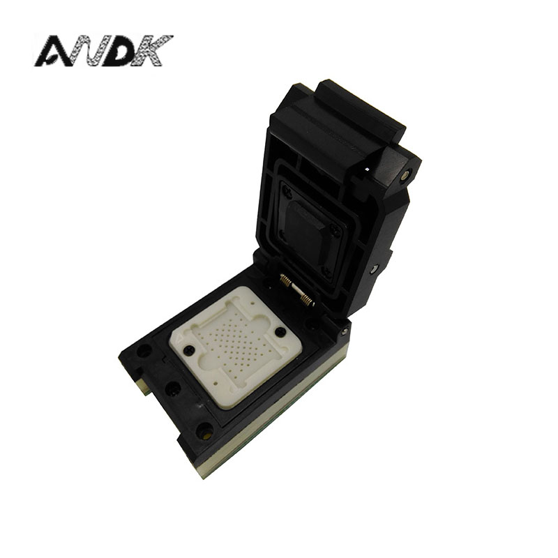 LGA60 TO DIP48 Pogo Pin Flash Programmer Adapter IC Test Socket LGA60 Burn in Socket Clamshell Structure iphone NAND programmer free shipping sop32 wide body test seat ots 32 1 27 16 soic32 burn block programming block adapter