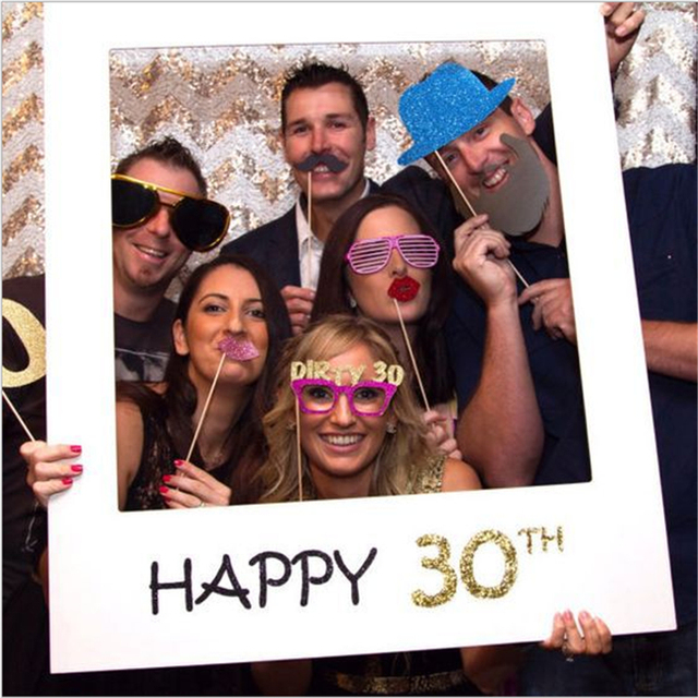 1st 30th 40th 50 Photo Booth Frame Happy Birthday Photo Booth Props ...