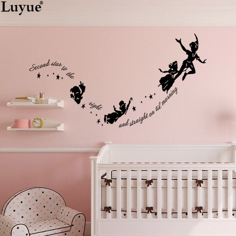 Luyue Official Store Tinkerbell The Right Peter Pan Wall Diy Kid Bedroom Nursery Vinyl Decor Removable Wall Stickers
