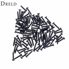 Black M2x10mm Cap Screws Bolts Cross Head Screws for Wooden Jewelry Box Self tapping Computer Case Screws M2 100pcs
