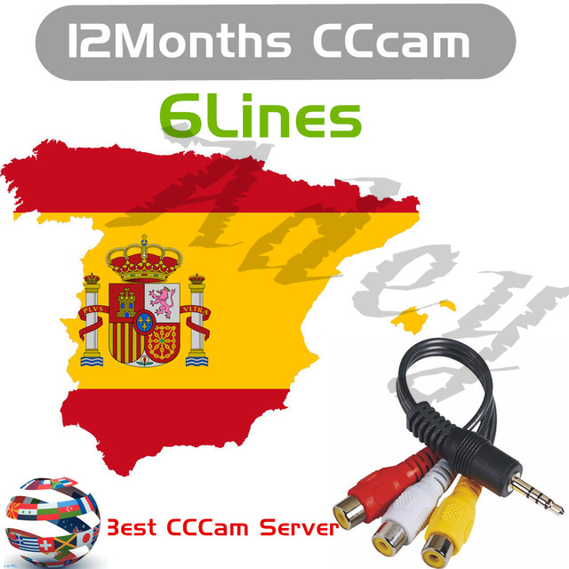 HD Ccam Cline For 1 Year Spain Europe Freesat V7 Satellite Tv Receiver 3 Cable FULL HD DVB-S2 Spain Cline Ccam IKS Server