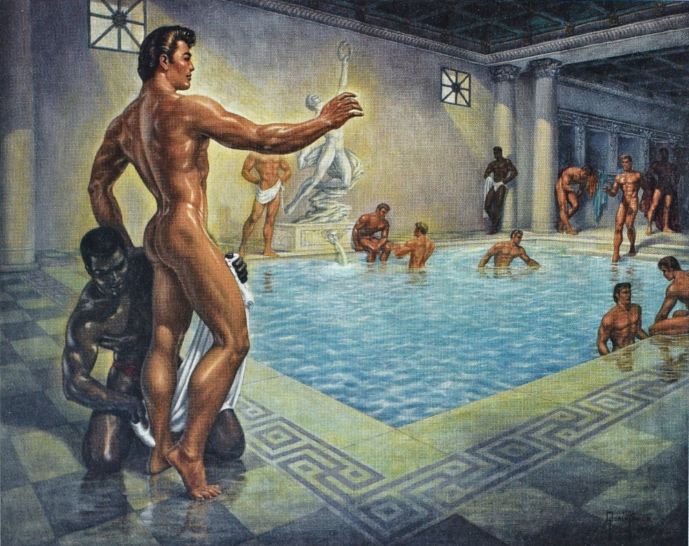 Top Cool Good Art Oil Painting Nude Men Nude Male Gay Oil -8185