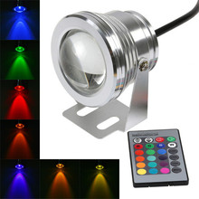 цена на IP68 10W RGB LED Light Garden Fountain Pool Pond Spotlight Waterproof Underwater Lamp with Remote Control Aquarium Lamp DC12V