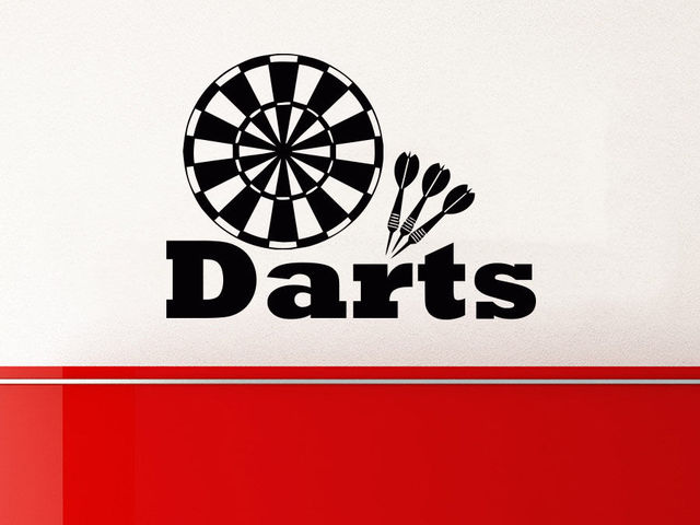 Dart wall decal target darts wall decals vinyl stickers teens boys nursery