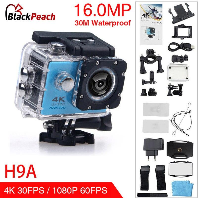 HAMTOD H9A HD 4 K WiFi caméra d'action avec boîtier étanche 2.0 pouces écran LCD 170 degrés grand Angle objectif Sport caméra