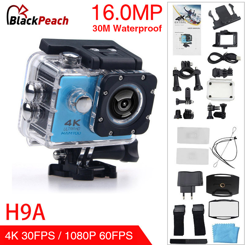 HAMTOD H9A HD 4K WiFi Action Camera with Waterproof Case 2.0 inch LCD Screen 170 Degree Wide Angle Lens Sport camera