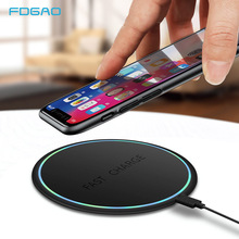 FDGAO Qi Wireless Charger 10W Fast Charging Pad For iPhone X XS MAX XR 8 Plus Samsung S9/S9+ S8 Note 9 Dock
