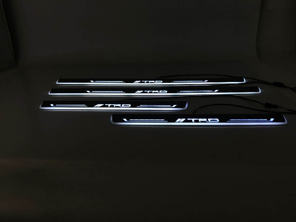 eOsuns LED moving door scuff Nerf Bars& Running Boards door sill light for Toyota Land Cruiser Prado lc70 lc120, lc200, lc150 eosuns customized led moving door scuff nerf bars