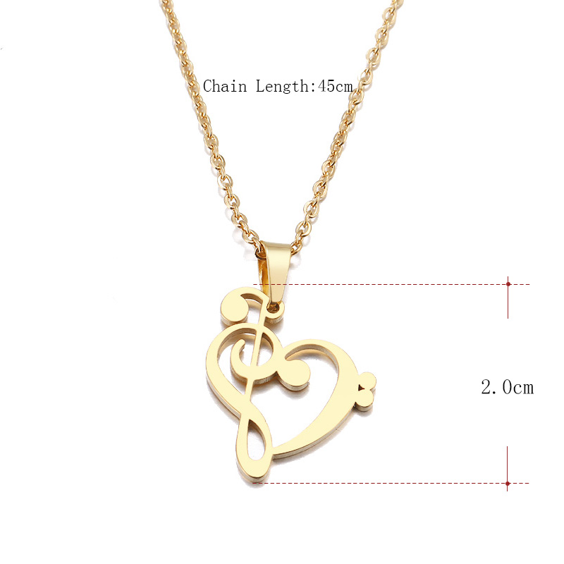HTB11PpNa42rK1RkSnhJq6ykdpXak - DOTIFI Stainless Steel Necklace Music Symbol Heart Of Treble And Bass Clefs Infinity Love Charm Pendant Necklaces Unisex Jewelry