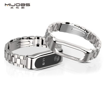 Mijobs Mi Band 2 Wrist Strap Metal Stainless Steel for Xiaomi Mi Band 2 Smart Accessories Bracelet Watch Miband 2 Band Wristband
