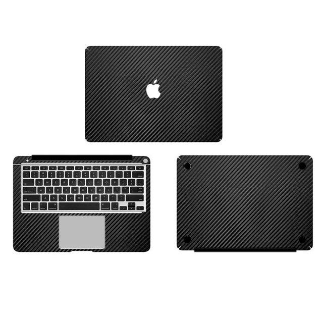 Black Carbon Fiber Vinyl Full Body Cover Laptop Decal Stickers For ...