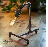 الشحن مجانا لوفت الصناعية أنبوب مصباح طاولة