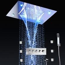 Массажная Душевая система «Водопад» с 4 функциями потолочный
