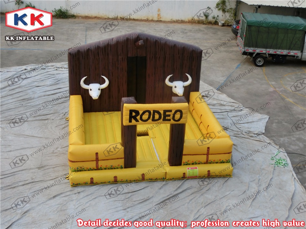 Inflatable Jumping Mat Rodeo Bull Inflatable Mattress For Playing