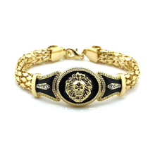 New Hot selling Celebrity Style Lion Head Charms with Rope Chain Bracelet Gold Plating Free Shipping