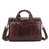 Tagdot Brand 100 Cow Messenger Bag Men Genuine Leather Bag Men Business Portable Shoulder Notebook Bag