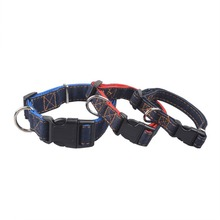 Denim Jean Dog Collar Adjustable Bone Pattern Accessories Pets Puppy for Dogs Cats Chihuahua Bulldog  Pet Supplies