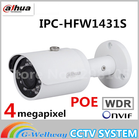 Brand IPC-HFW1431S 4MP IP Camera IR30M IP67 IK10 P2P WDR IR Mini-Bullet Camera replace IPC-HFW1420S Bullet camera brand 4mp bullet camera ipc hfw1431s wdr day night infrared cctv poe camera support ip67 waterproof security camera system