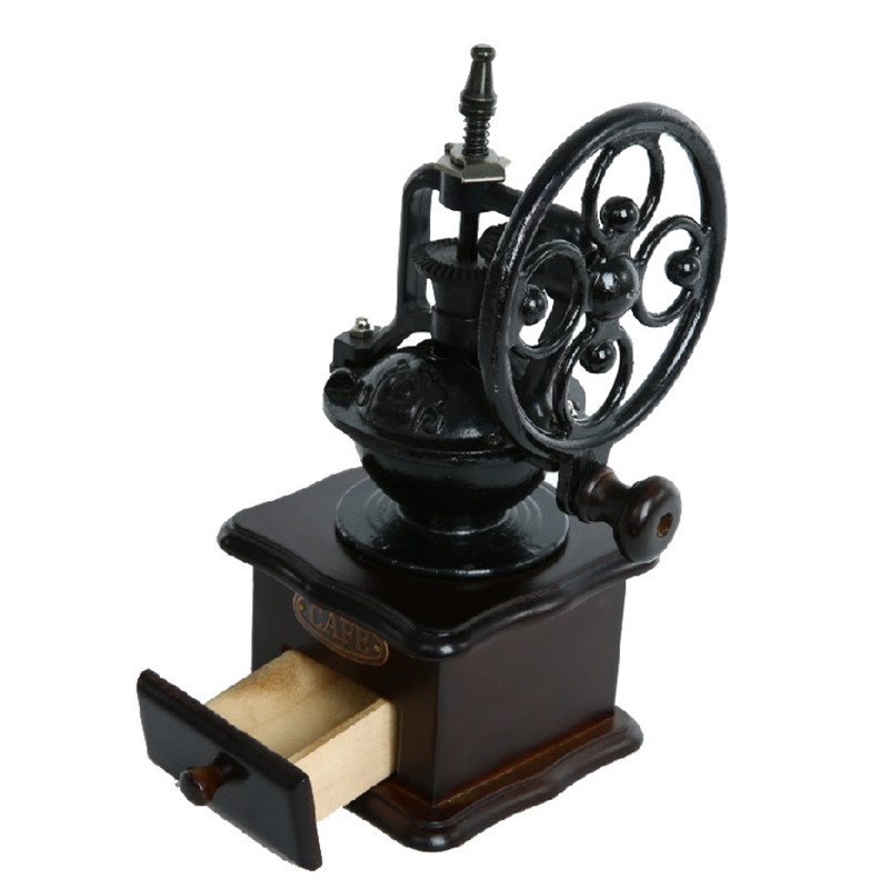 BEIJAMEI high quallity round wheel manual coffee grinding machine home antique coffee grinder manual coffee mill арахис private home manual 200g 188g1