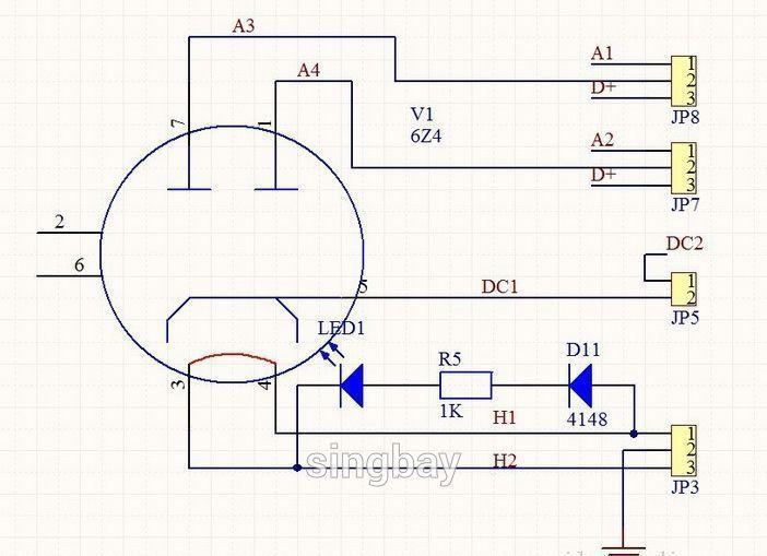 6N11 (6DJ8/ECC88) Imitation Hetian Mao circuit tube preamp