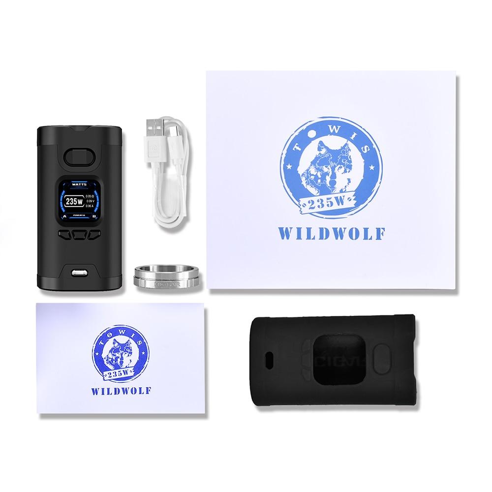 Original Hcigar Wildwolf 235 W TC MOD con Towis XT235 Chipset y 1,3 pulgadas TFT pantalla a Color No 18650 batería cigarrillo electrónico - 5