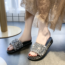 Moxxy New Brand Slipper Spring Women Slippers Beach Sandals Crystal Flat Slides Soft Casual Flip Flop Lady Outdoor Home