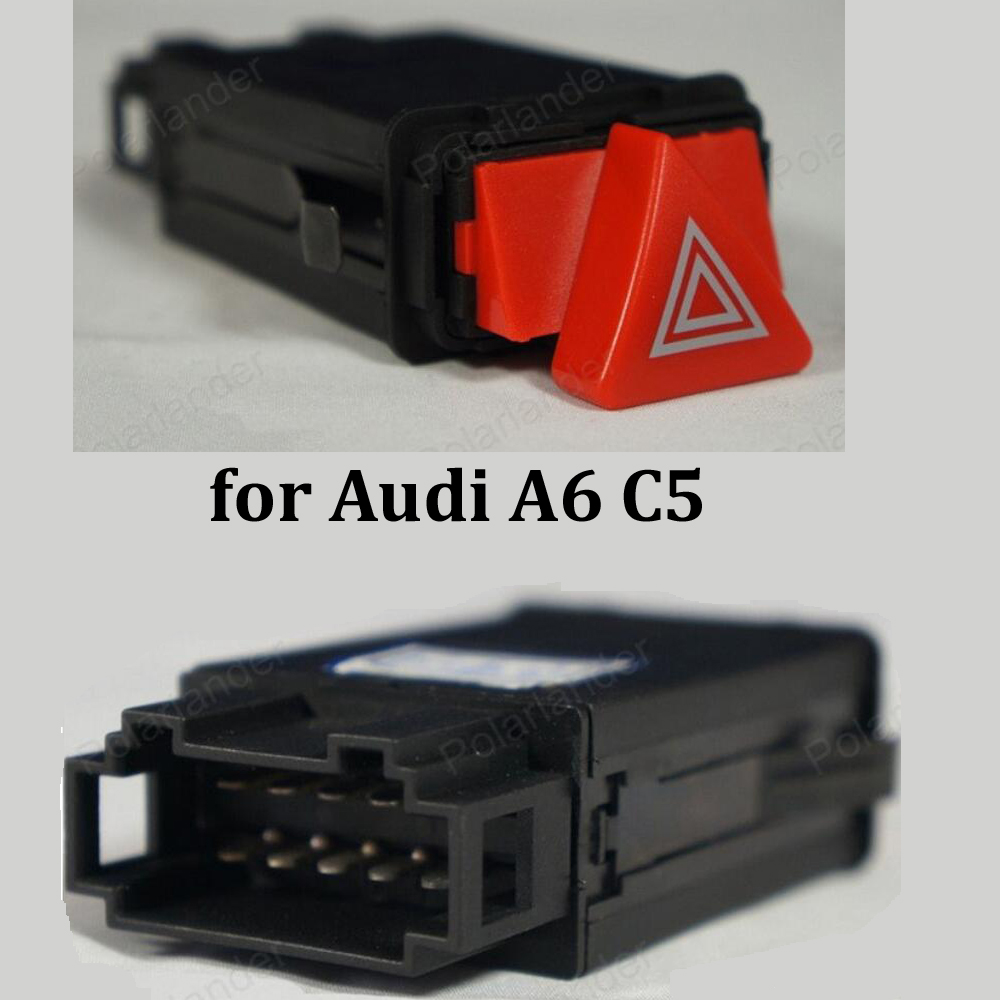 Pour a-udi A6 C5 voyant Double Flash Interrupteur Bouton 9 broches D'urgence Lampe commutateur 4B0 941 509 c