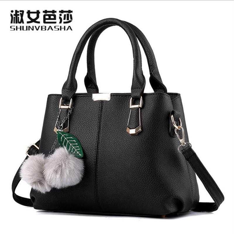 Lady Top-Handle Bags Handbags Women Famous Brands Female Black Casual Leather Shoulder Bag Tote For Girls Office Hobos Bag Purse monfer genuine leather slim straw tassel bag casual tote cowhide top handle bags handbags women famous brands shoulder