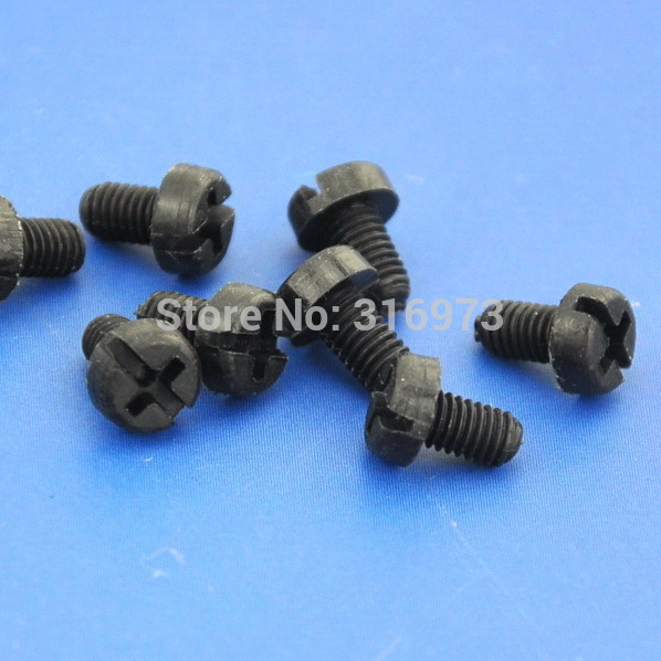 1000 pcs lot M3x5mm Black Nylon Screw