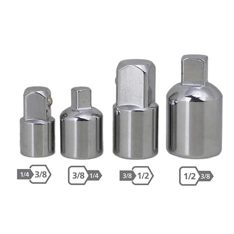 6PCS 1//2 3//4 3//8 1//4 Llave de trinquete Llave de z/ócalo del adaptador Juego de llaves Mando del convertidor reductor de aire Conjunto Mengonee