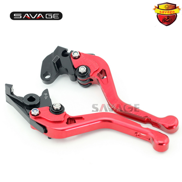 ФОТО For YAMAHA FZS600 FAZER XJR 400/R XJR400 XJR400R Motorcycle Accessories CNC Aluminum Adjustable Short Brake Clutch Levers Red