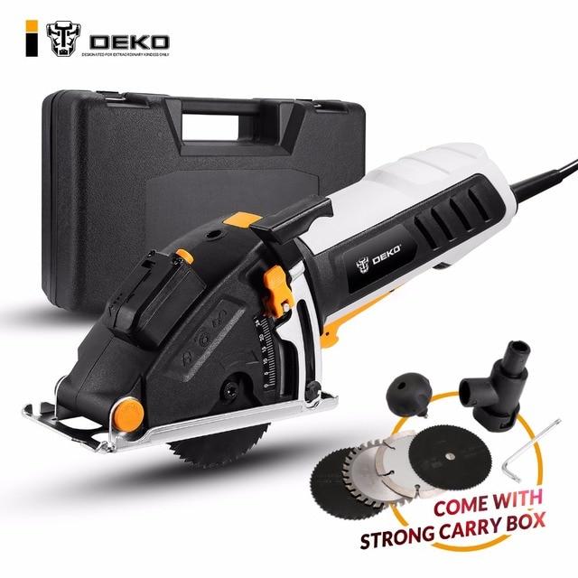 DEKO небольшой круглый заостренный механические инструменты с лазером, 4 лезвия, пыли проход, шестигранный ключ, вспомогательная ручка, BMC BOX электрические пилы
