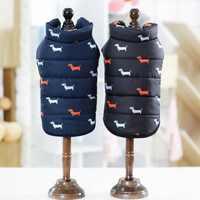 Cool Otoño Invierno mascota perro gato ropa caliente abrigo estilo británico chaqueta con cuello de piel para perro pequeño mediano cachorro ropa para perro
