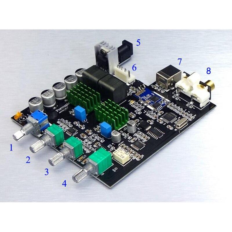 Image 4 - TPA3116D2 Bluetooth 5,0 цифровой усилитель мощности Qcc3003 100 Вт * 2 2,0 стерео аудио усилитель PCM5102A сабвуфер со звуковой картой-in Усилитель from Бытовая электроника