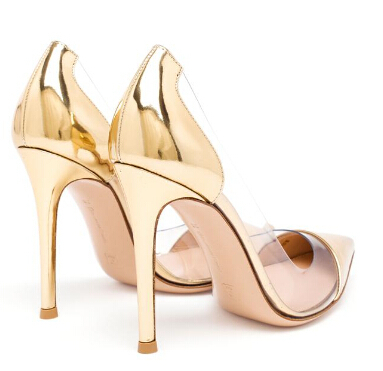 Gold Lucency Pointed Toe Transparent Pumps Shoes Women Stylish High Heel  Woman Shoes PVC Sandals Office Career Pumps Nancyjayjii-in Women s Pumps  from Shoes ... bd3daf094075