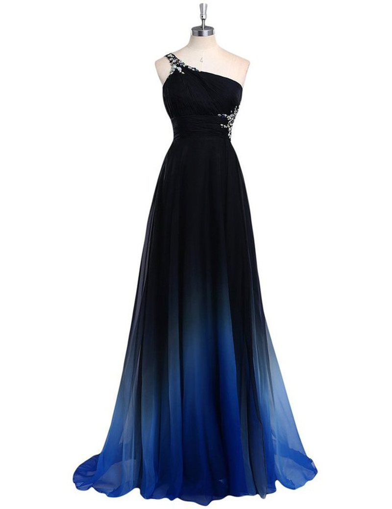 Blue or black prom dresses