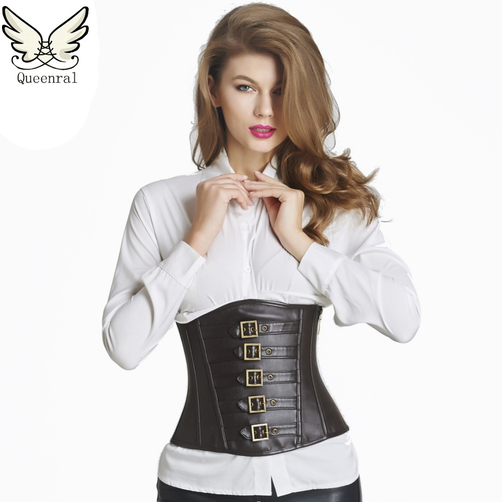 Leather Corset Waist Trainer Corsets Steampunk Sexy