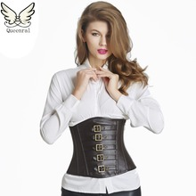 5c76c632461 Queenral Leather waist trainer corsets underbust corsets and bustiers  steampunk