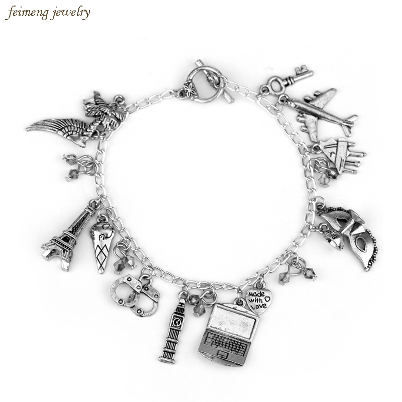 Movie Jewelry Fifty Shades of Grey Handcuffs Hand Catenary Charm Bracelets