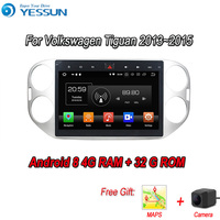 YESSUN Android 8.0 4G RAM For Volkswagen Tiguan 2013~2015 Car Navigation GPS Multimedia Player mirror link Radio Touch Screen