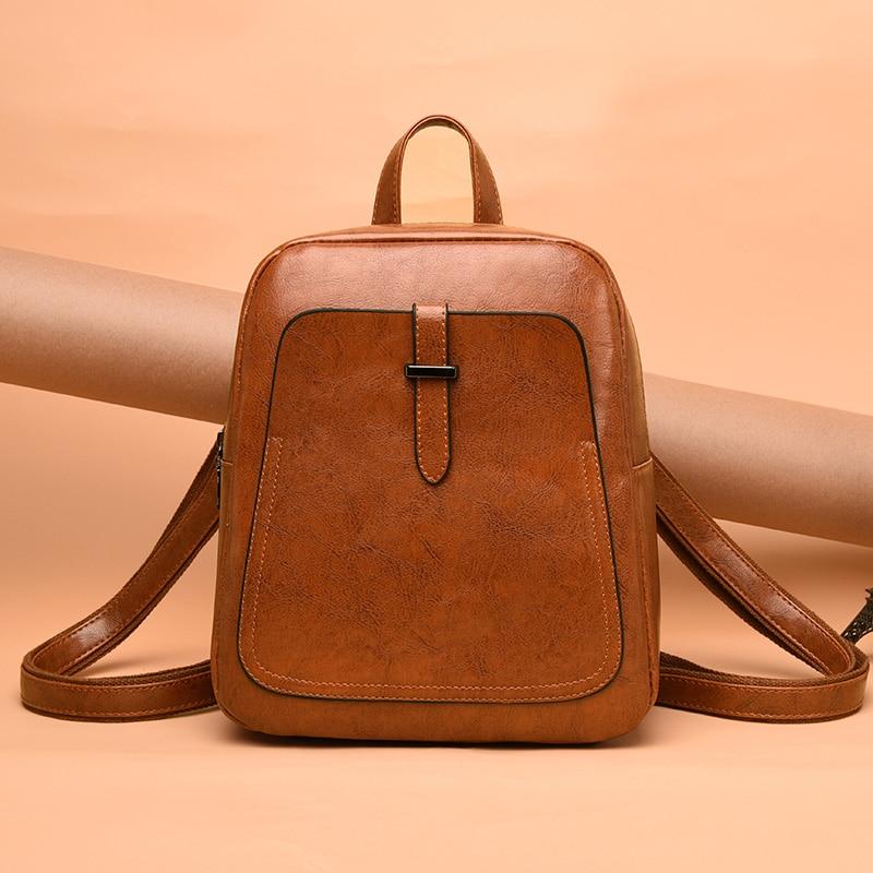 Women Backpacks Bags Leather Backpack Small Backpack Korean Fashion Bag Leisure PU Shoulder Bag Female Student Bag