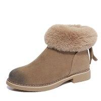 2017 Winter Faux Fur Women Boots Fashion Warm Black Brown Women S Boots Rubber Slim Sexy