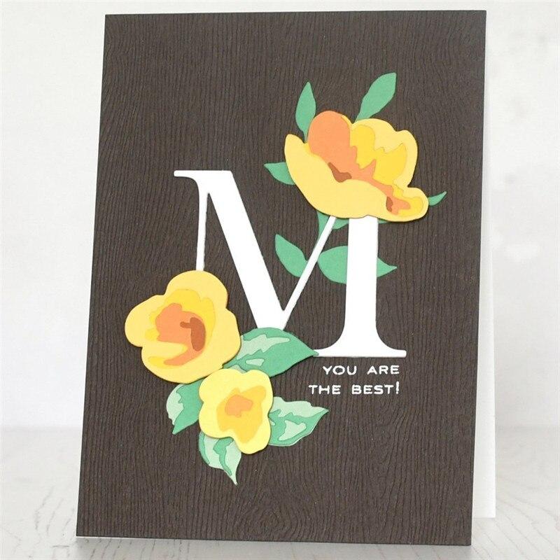 YaMinSanNiO Word Dies Alphabet Metal Cutting Dies Scrapbooking Craft Dies Card Making Album Embossing New Die Cut Stencils