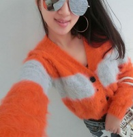 mink cashmere sweater women cashmere cardigan pure cashmere sweater mink fur coat free shipping S686