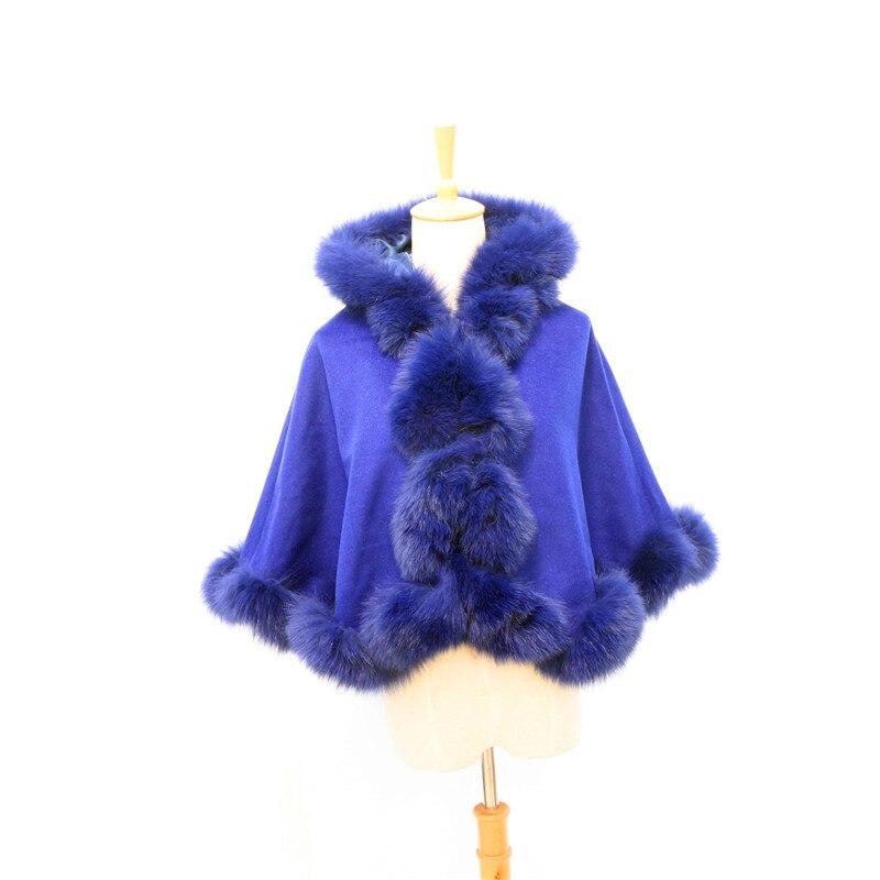 Livraison gratuite enfant (age3-5) longueur 40cm torsadé fourrure avec capuche cachemire cape