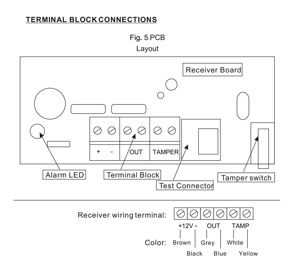 Dual Microwave Infrared Beam Waterproof Motion Sensor Intrusion Tamper Wiring Diagram For 3 4