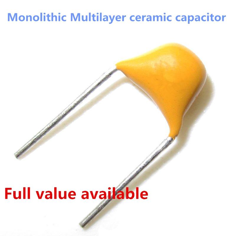 Original 50V 10pf 100pf 1nf 10nf 100nf 1uf 10uf 15pf 100 101 102 103 104 105 106 150 Monolithic Multilayer Ceramic Capacitor